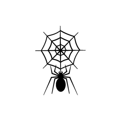 Spider With Web Decal