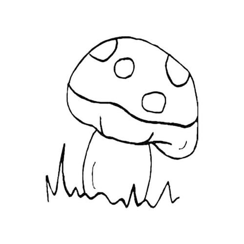 Spotty Mushroom S Decal