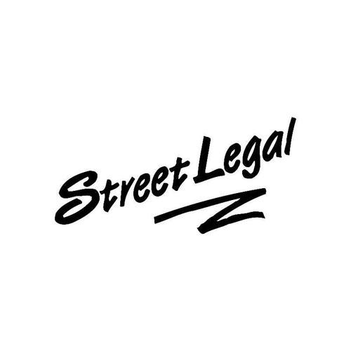 Street Legal Logo Jdm Decal