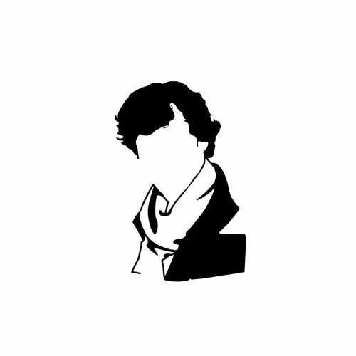 Sherlock Holmes Faceless  Vinyl Decal Sticker  Size option will determine the size from the longest side Industry standard high performance calendared vinyl film Cut from Oracle 651 2.5 mil Outdoor durability is 7 years Glossy surface finish