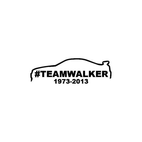 Team Walker Decal