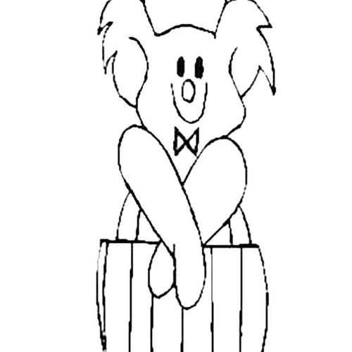 Teddy In Pajamas S Decal