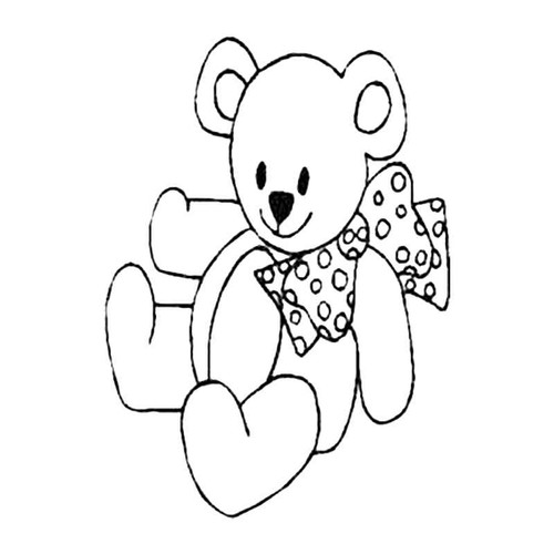 Teddy With Dickie Bow S Decal