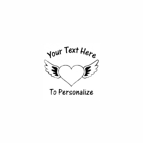 Heart With Angel Wings Decal Size option will determine the size from the longest side Industry standard high performance calendared vinyl film Cut from Oracle 651 2.5 mil Outdoor durability is 7 years Glossy surface finish
