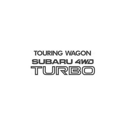 Touring Wagon Subaru 4Wd Turbo Ghic Decal