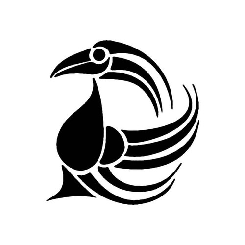 Tribal Bird D S Decal