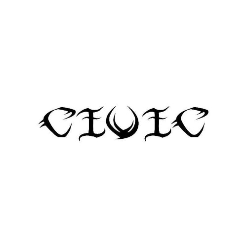 Tribal Civic Logo Jdm Decal