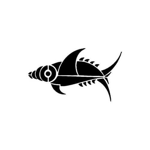 Tribal Fish E S Decal