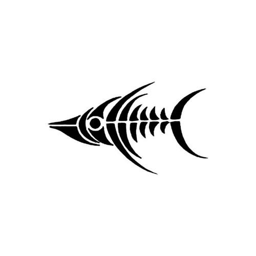 Tribal Fish Skeleton S Decal