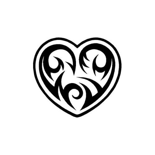 Tribal Heart 3 Decal