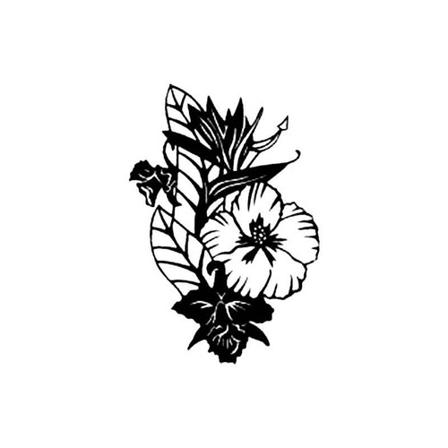 Tropical Flower S Decal
