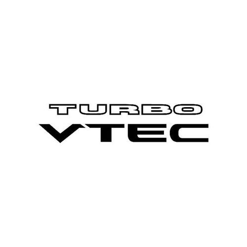 Turbo Vtec Logo Jdm Decal