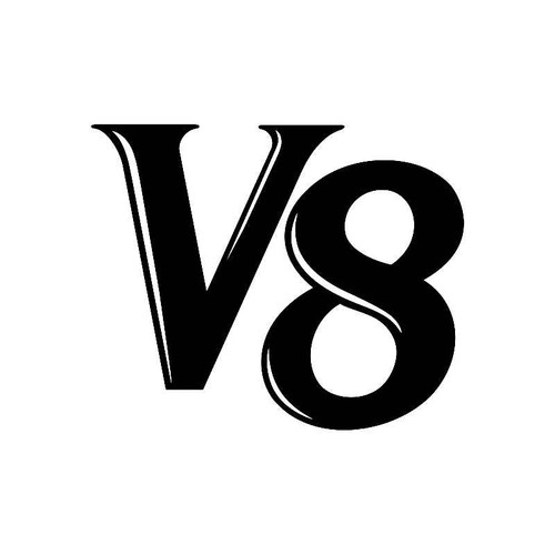 V 8 Logo Jdm Decal