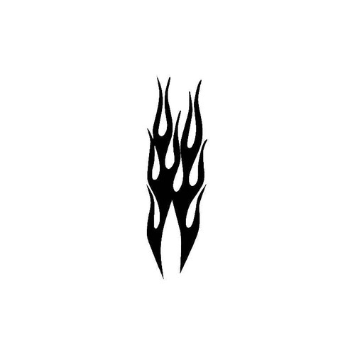 Vertical Flames Decal