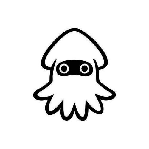 Super Mario Blooper Squid Decal