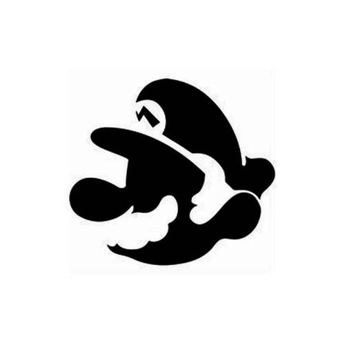 Super Mario Head Decal