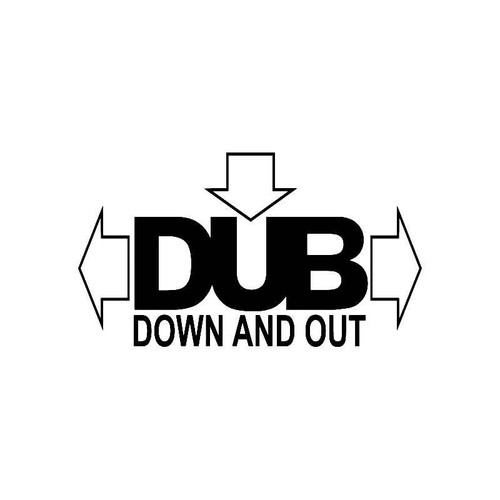 Vw Dub Down And Out Jdm Vw S Decal