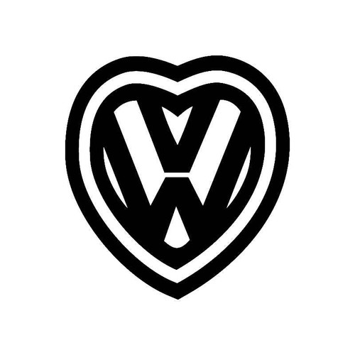 'Vw Love Heart Logo' Jdm Vw S Decal
