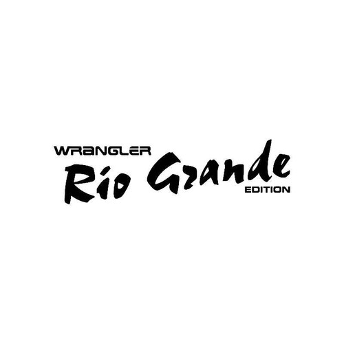 Wrangler Rio Grande Edition Logo Jdm Decal