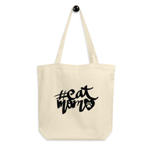 Eco Tote Bag : #catmom