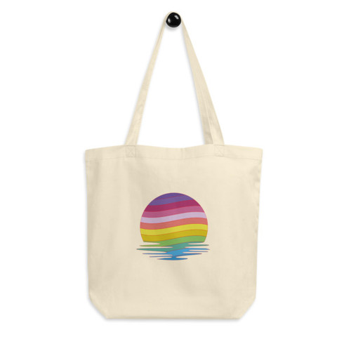 Eco Tote Bag : Rainbow Sunset