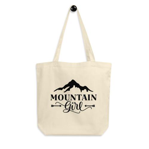 Eco Tote Bag : Mountain Girl