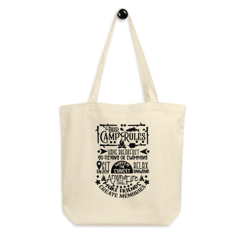 Eco Tote Bag : Our Camp Rules