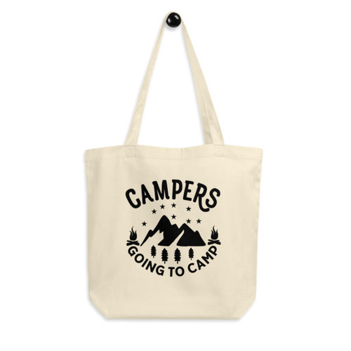 Eco Tote Bag : Campers Going to Camp