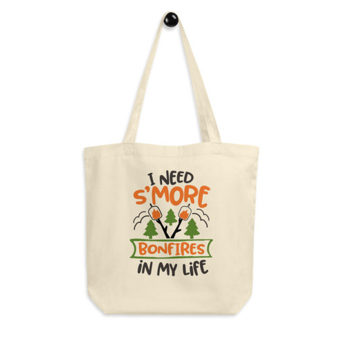 Eco Tote Bag : I Need S'more Bonfires In My Life