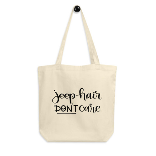 Eco Tote Bag : Jeep Hair Don't Care