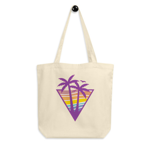 Eco Tote Bag : Retro Beach