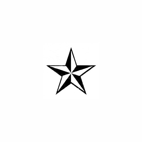 Nautical Star Decal Size option will determine the size from the longest side Industry standard high performance calendared vinyl film Cut from Oracle 651 2.5 mil Outdoor durability is 7 years Glossy surface finish
