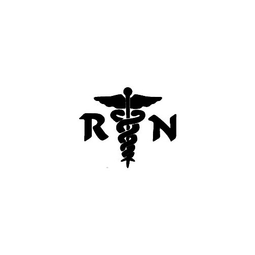 RN Nurse Window Decal 01 Size option will determine the size from the longest side Industry standard high performance calendared vinyl film Cut from Oracle 651 2.5 mil Outdoor durability is 7 years Glossy surface finish