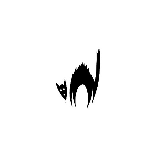 Halloween Cat Window Decal (03) Size option will determine the size from the longest side Industry standard high performance calendared vinyl film Cut from Oracle 651 2.5 mil Outdoor durability is 7 years Glossy surface finish