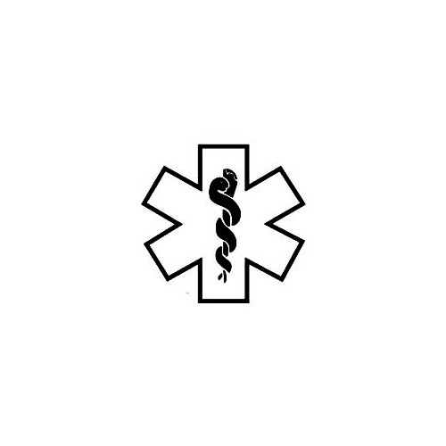 Star Of Life Outline Window Decal (01) Size option will determine the size from the longest side Industry standard high performance calendared vinyl film Cut from Oracle 651 2.5 mil Outdoor durability is 7 years Glossy surface finish