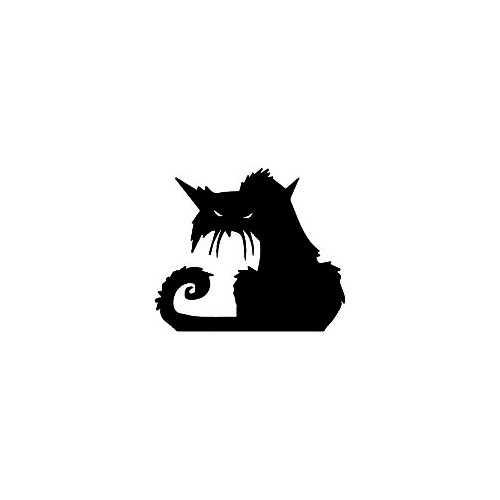 Halloween Cat Window Decal (06) Size option will determine the size from the longest side Industry standard high performance calendared vinyl film Cut from Oracle 651 2.5 mil Outdoor durability is 7 years Glossy surface finish
