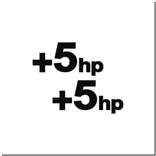5Hp V.1 Vinyl Decal Sticker Size option will determine the size from the longest side Industry standard high performance calendared vinyl film Cut from Oracle 651 2.5 mil Outdoor durability is 7 years Glossy surface finish