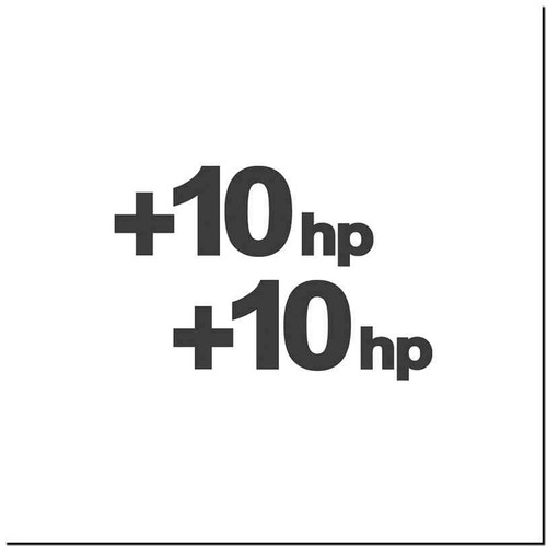10Hp Vinyl Decal Sticker Size option will determine the size from the longest side Industry standard high performance calendared vinyl film Cut from Oracle 651 2.5 mil Outdoor durability is 7 years Glossy surface finish