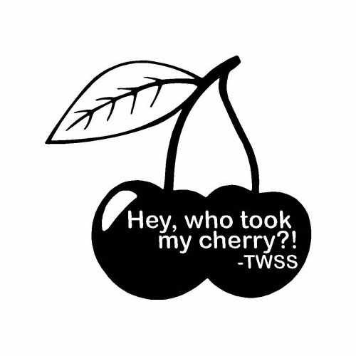 Saying Twss Hey Who Took My Cherry  Vinyl Decal Sticker  Size option will determine the size from the longest side Industry standard high performance calendared vinyl film Cut from Oracle 651 2.5 mil Outdoor durability is 7 years Glossy surface finish