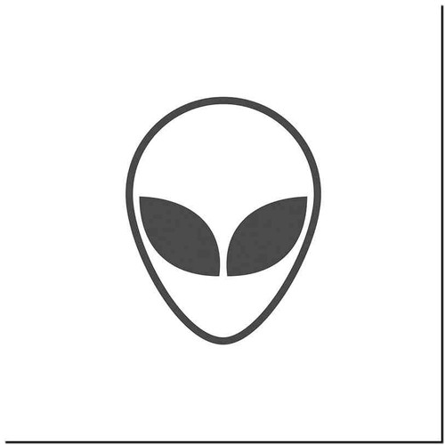 Alien 1 Vinyl Decal Sticker Size option will determine the size from the longest side Industry standard high performance calendared vinyl film Cut from Oracle 651 2.5 mil Outdoor durability is 7 years Glossy surface finish