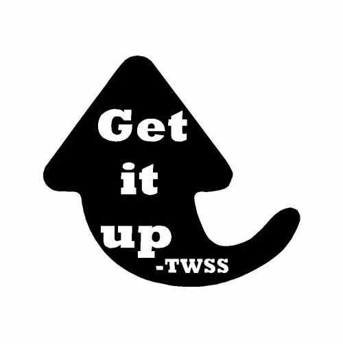 Saying Twss Get It Up  Vinyl Decal Sticker  Size option will determine the size from the longest side Industry standard high performance calendared vinyl film Cut from Oracle 651 2.5 mil Outdoor durability is 7 years Glossy surface finish