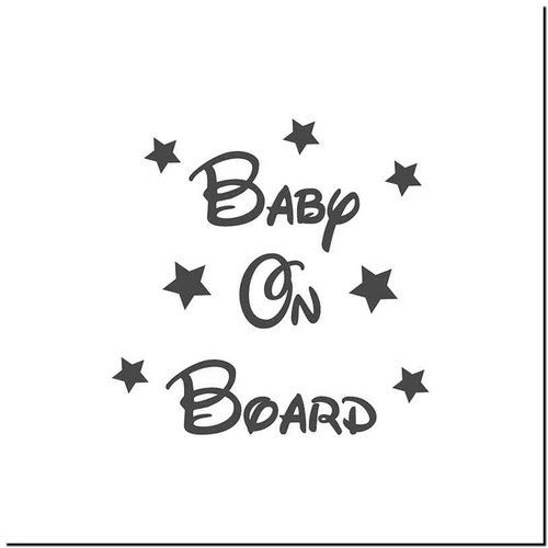 Baby On Board 4 Vinyl Decal Sticker Size option will determine the size from the longest side Industry standard high performance calendared vinyl film Cut from Oracle 651 2.5 mil Outdoor durability is 7 years Glossy surface finish