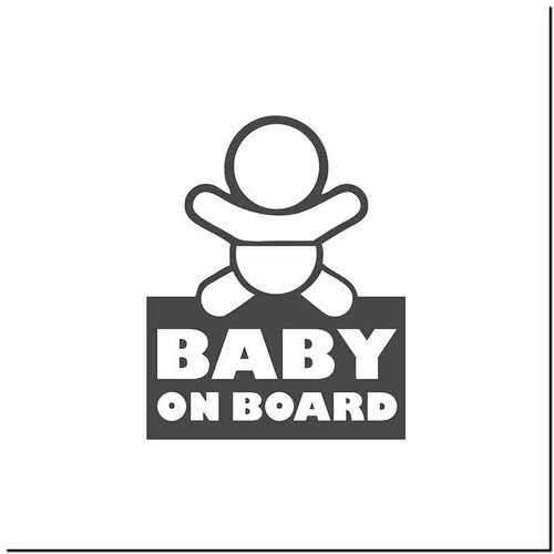Baby On Board 5 Vinyl Decal Sticker Size option will determine the size from the longest side Industry standard high performance calendared vinyl film Cut from Oracle 651 2.5 mil Outdoor durability is 7 years Glossy surface finish