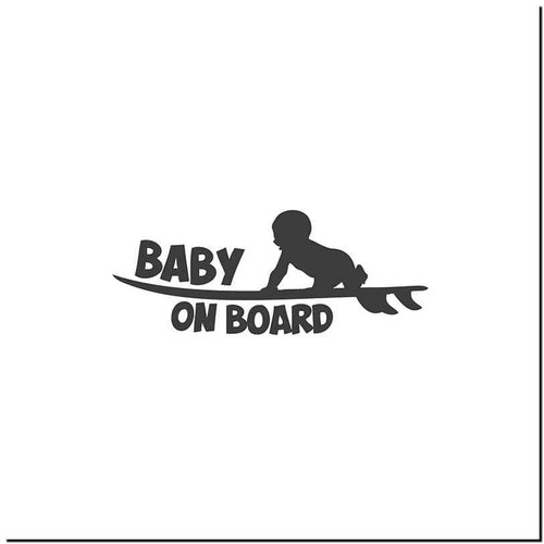 Baby Surf Vinyl Decal Sticker Size option will determine the size from the longest side Industry standard high performance calendared vinyl film Cut from Oracle 651 2.5 mil Outdoor durability is 7 years Glossy surface finish