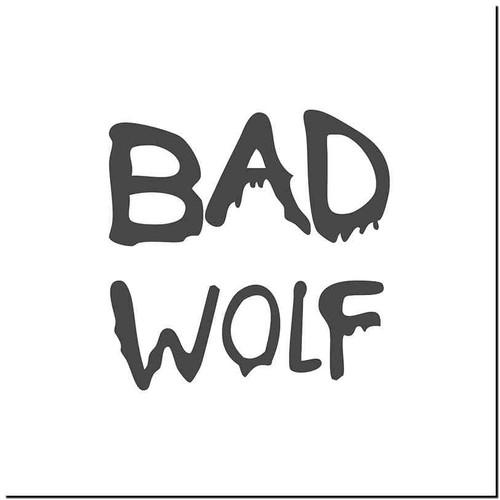 Bad Wolf Vinyl Decal Sticker Size option will determine the size from the longest side Industry standard high performance calendared vinyl film Cut from Oracle 651 2.5 mil Outdoor durability is 7 years Glossy surface finish