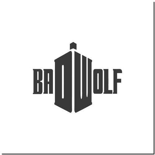 Bad Wolf V2 Vinyl Decal Sticker Size option will determine the size from the longest side Industry standard high performance calendared vinyl film Cut from Oracle 651 2.5 mil Outdoor durability is 7 years Glossy surface finish
