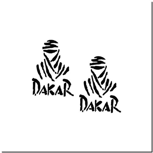 Dakar Vinyl Decal Sticker Size option will determine the size from the longest side Industry standard high performance calendared vinyl film Cut from Oracle 651 2.5 mil Outdoor durability is 7 years Glossy surface finish