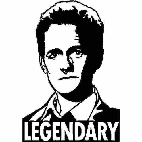 Saying Lengendary Barney Stinson  Vinyl Decal Sticker  Size option will determine the size from the longest side Industry standard high performance calendared vinyl film Cut from Oracle 651 2.5 mil Outdoor durability is 7 years Glossy surface finish