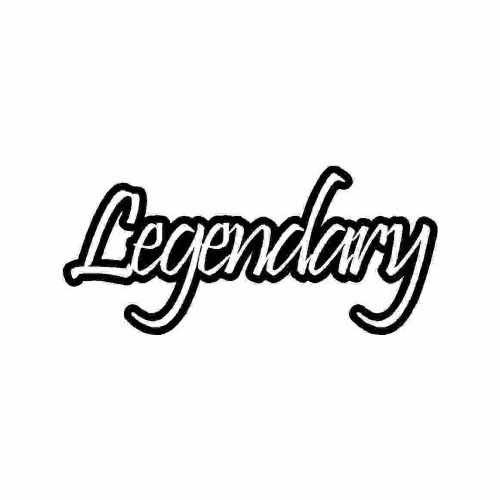 Saying Legendary  Vinyl Decal Sticker  Size option will determine the size from the longest side Industry standard high performance calendared vinyl film Cut from Oracle 651 2.5 mil Outdoor durability is 7 years Glossy surface finish