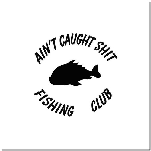 Fish Club Vinyl Decal Sticker Size option will determine the size from the longest side Industry standard high performance calendared vinyl film Cut from Oracle 651 2.5 mil Outdoor durability is 7 years Glossy surface finish